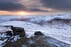 Winter Sunset on Grindslow Knoll photo by Paul Newcombe