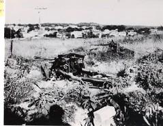 23- 15avril 45- st georges de didonne et son clocher d'ou une mitrailleuse allemande crachait rageusement - Fonds Amiel