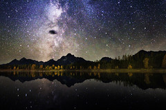 UFO and Milky Way Galaxy Grand Teton Astrophotography Night Sky Canon 60Da photo by astroval1