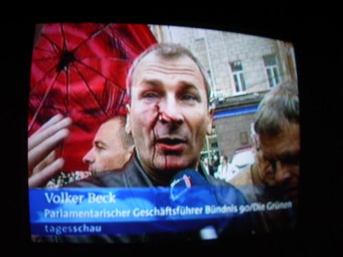 Volker Beck in der Tagesschau