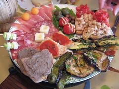 Antipasto Toscano dish