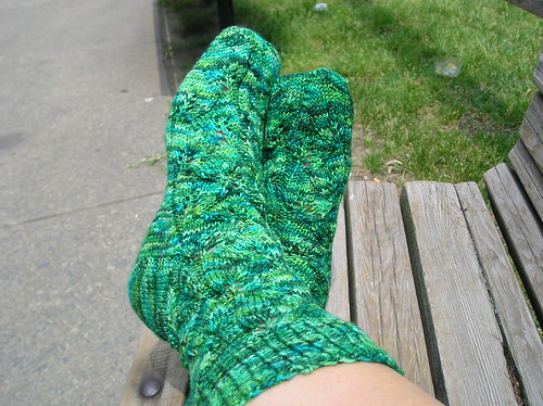 Green EL Socks 2