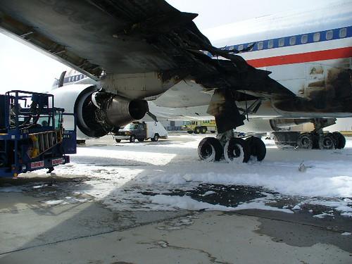 Aircraft Fire at LAX Maintenance Facility