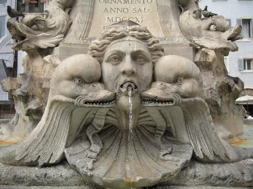Evil duck fountain