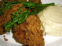 Spicy Fried Chicken with Southern Mashed Potatoes
