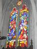 Domvallier : église, vitrail