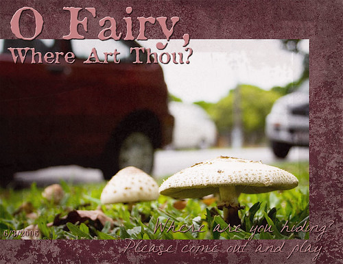 O Fairy, Where Art Thou?