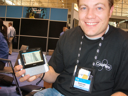 Scott and his (borrowed) Vaio