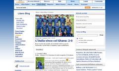 Italia - Ghana by Treviño su LiberoBlog