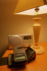 radio, lamp, and meter in faux HDR