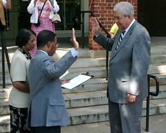 Julian Taliaferro Takes the Oath