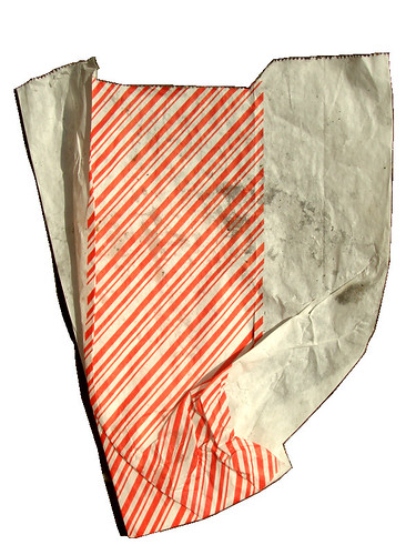 red stripey bag