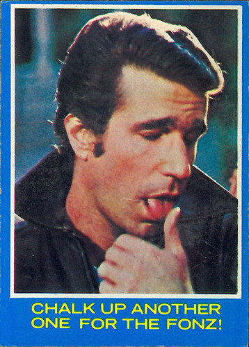 Happy Days card: The Fonz