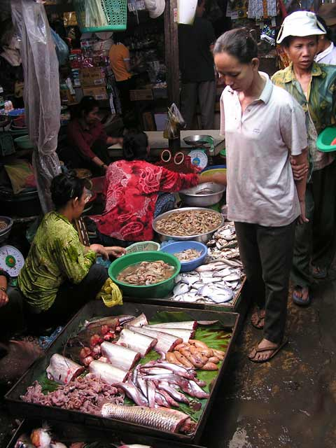 Fresh fish at Russian Market, Phnom Penh