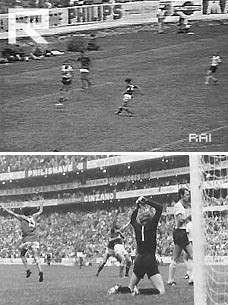 gol di Rivera in Italia Germania 4 a 3 di messico '70