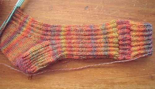 simple trekking sock WIP