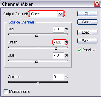 [後製]Photoshop色彩增豔效果 - Channel Mixer(1)