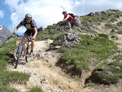 Giving Dave a singletrack lesson