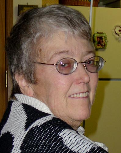 Ann at Jo Necker's, 12-19-03