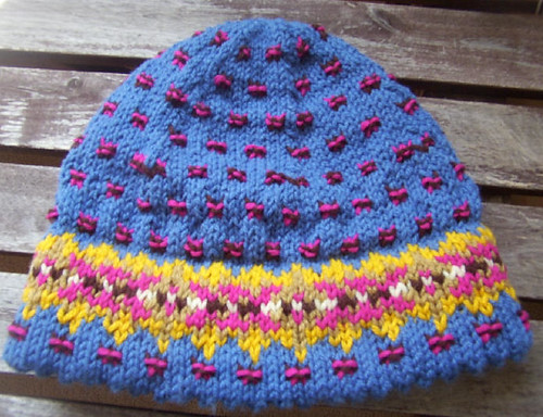 Picot-Hem Fair Isle Hat