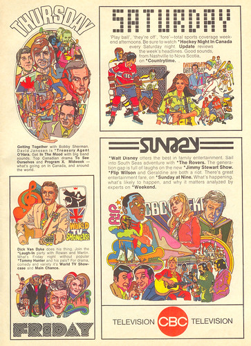 Vintage Ad #37 Part 2 - CBC Fall TV Lineup, 1971