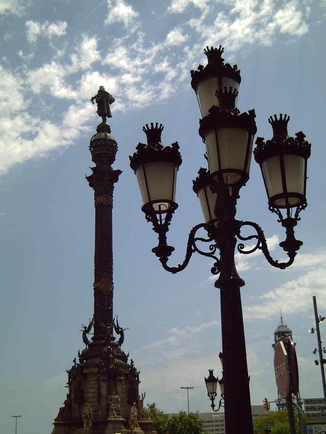Columbus and La Rambla in Barcelona