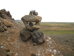 Rock Balancing in Iceland