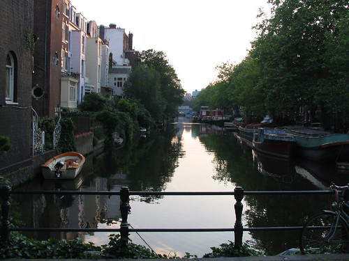 Canal view at sunset