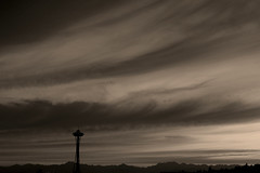 Flickr photo sharing: Needle Silhouette.