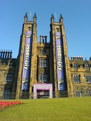 Exterior of the Assembly Hall venue for the Edinburgh Festival Fringe