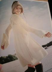 Rebecca White knit coat