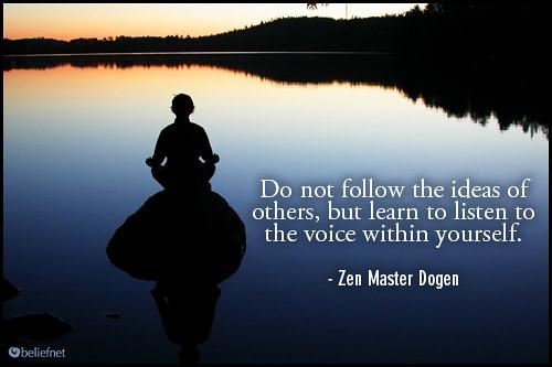 a famous zen quote a buddhist journal