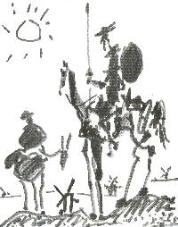 Don Quijote y Sancho Panza por Dalí