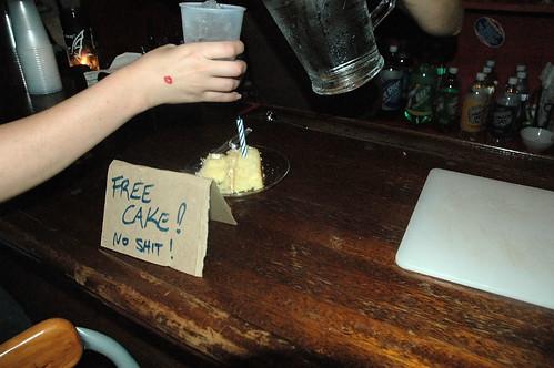 Free cake! No shit!