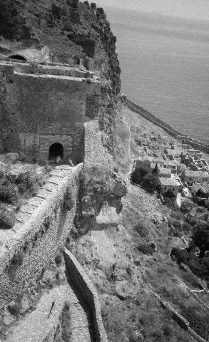 Castle of Monemvasia, view from the battlements