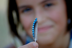 THE BLUE FEATHER photo by Momenti di Montagna