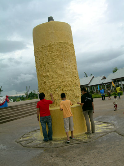 Giant Candle at Temple