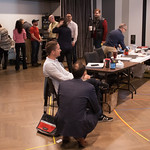 The first rehearsal for COMPANY at Writers Theatre