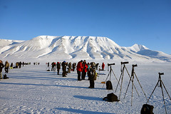 Svalbard Eclipse Camera Line photo by NYC Comets