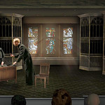 DOUBT - First Rehearsal - set rendering by Scenic Designer Kevin Depinet