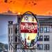 Super Heros Sunset - Roanoke Dr. Pepper Sign