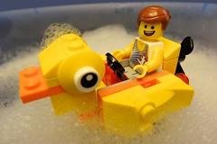 Emmet and his Bubble Bath Ducky photo by Lesgo LEGO Foto!