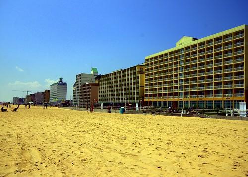 va beach and sand