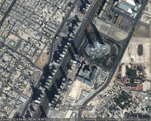 Sheikh Zayed Road from space