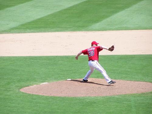 Stanton pitches