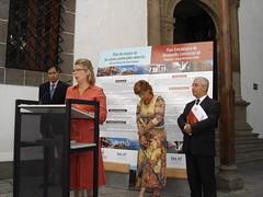 Josefa Luzardo en la presentación del Plan