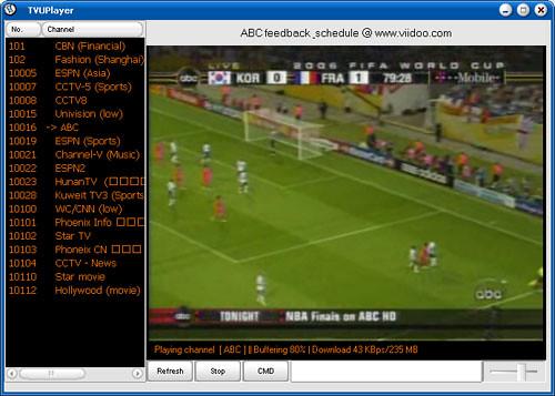 TVU player para ver el mundial de fútbol por internet
