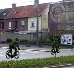 Cyklister i häcken