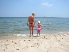 Beach bum & mum