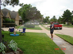 Ryan spraying Mr. Paul